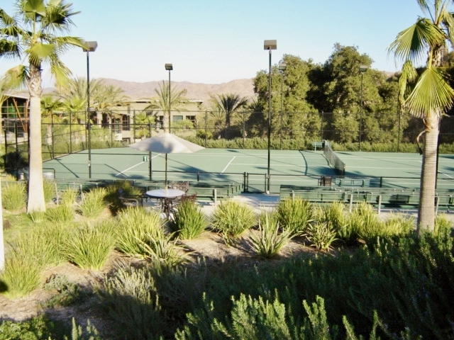 Tennis courts at Trilogy at Glen Ivy retirement community